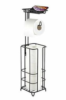 Toilet Paper Holder Stand with Reserve, Free Standing Toilet